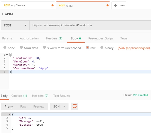 New POST URL in Postman